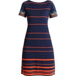 Sukienki dzianinowe: Ivko STRIPED DRESS INTARSIA PATTERN Sukienka dzianinowa marine
