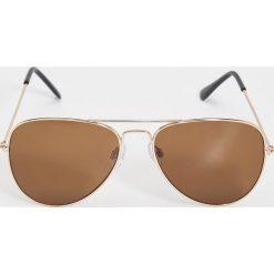 Okulary przeciwsłoneczne damskie: Okulary przeciwsłoneczne awiatorki – Brązowy