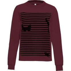 Bluza z nadrukiem bonprix czerwony klonowy - czarny z nadrukiem. Czerwone bluzy z nadrukiem damskie bonprix. Za 49,99 zł.