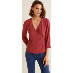 Mango - Koszula Fleur. Brązowe koszule damskie Mango, l, z tkaniny, z długim rękawem. Za 119,90 zł.