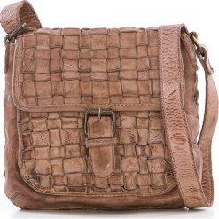 Torebki klasyczne damskie: Skórzana torebka w kolorze szarobrązowym – 21 x 19 x 7 cm