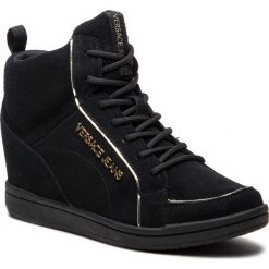 Sneakersy VERSACE JEANS - E0VSBSB2 70733 899. Czarne sneakersy damskie Versace Jeans, z jeansu. Za 939,00 zł.