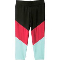 Legginsy damskie do fitnessu: Legginsy sportowe 3/4, oddychające i szybko schnące bonprix czarno-różowo-morski