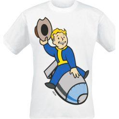 T-shirty męskie z nadrukiem: Fallout 4 – Vault Boy – Bomber T-Shirt biały
