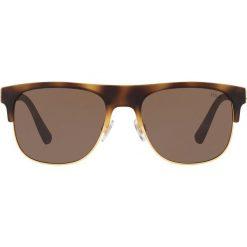Polo Ralph Lauren - Okulary PH4132. Brązowe okulary przeciwsłoneczne męskie wayfarery marki Polo Ralph Lauren, z materiału. Za 499,90 zł.
