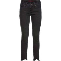 Rurki damskie: Dżinsy SKINNY z nogawkami bez obszycia bonprix czarny denim