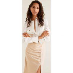 Mango - Koszula Voge. Szare koszule wiązane damskie Mango, m, z materiału, z długim rękawem. Za 139,90 zł.