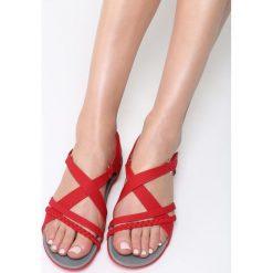 Czerwone Sandały Swallow. Brązowe sandały damskie marki vices, z materiału, ze szpiczastym noskiem, na wysokim obcasie, na obcasie. Za 89,99 zł.