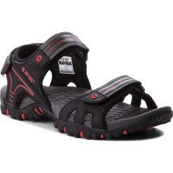 Sandały męskie skórzane: Sandały HI-TEC – Taman AVSSS18-HT-01-Q2 Black/Red