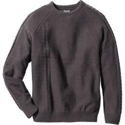 Swetry męskie: Sweter z szalikiem Slim Fit bonprix antracytowy