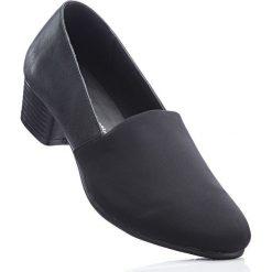 Wygodne czółenka bonprix czarny. Czarne buty ślubne damskie bonprix, na obcasie. Za 89,99 zł.