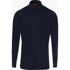 HUGO - Koszula męska łatwa w prasowaniu - Elisha01, niebieski. Niebieskie koszule męskie non-iron marki HUGO, m, z bawełny. Za 299,95 zł.