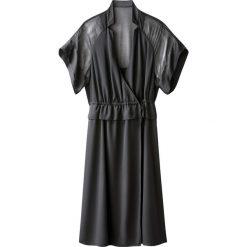 Sukienki hiszpanki: Sukienka kimono z satynowym woalem
