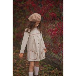 Sukienka CASUAL STYLE. Brązowe sukienki dziewczęce z falbanami Pakamera, ze sztruksu, casualowe. Za 179,00 zł.