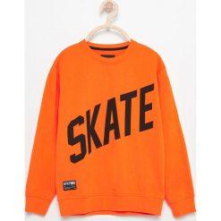 Bluzy chłopięce rozpinane: Bluza z napisem skate - Pomarańczo