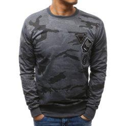Bluzy męskie: Bluza męska z nadrukiem camo antracytowa (bx3467)