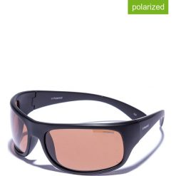 Okulary przeciwsłoneczne męskie lustrzane: Okulary męskie w kolorze czrano-brązowym
