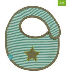 """Śliniaki: Ślinaczki (2 szt.) """"Starlight"""" w kolorze oliwkowym – 26,5 x 21 cm"""