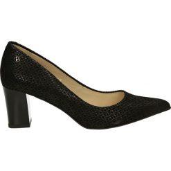 Czółenka - 4400 AZ16 NER. Czarne buty ślubne damskie Venezia, ze skóry. Za 319,00 zł.