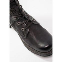 A.S.98 Kozaki sznurowane nero. Czarne buty zimowe damskie A.S.98, z materiału. W wyprzedaży za 678,30 zł.