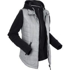 Kamizelka outdoorowa 3 w 1 z wyjmowaną bluzą z polaru bonprix szary. Szare bluzy polarowe marki bonprix, z kapturem. Za 239,99 zł.