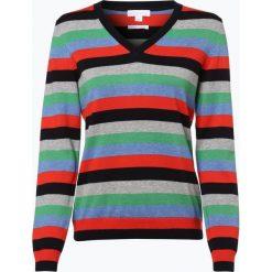 Brookshire - Sweter damski, niebieski. Czarne swetry klasyczne damskie marki brookshire, m, w paski, z dżerseju. Za 179,95 zł.