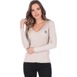 """Swetry klasyczne damskie: Sweter """"Deuce"""" w kolorze beżowym"""