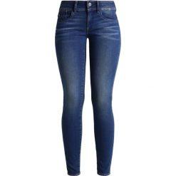 GStar LYNN MID SKINNY Jeans Skinny Fit darkblue denim. Niebieskie boyfriendy damskie G-Star. W wyprzedaży za 390,15 zł.