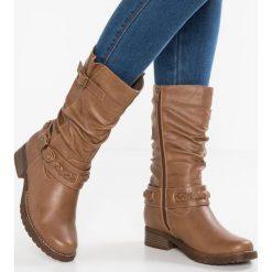 Anna Field Kozaki cognac. Brązowe buty zimowe damskie marki Anna Field, z materiału. W wyprzedaży za 156,75 zł.