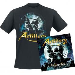 Artillery The face of fear CD + T-Shirt standard. Czarne t-shirty damskie Artillery, l, z bawełny. Za 109,90 zł.