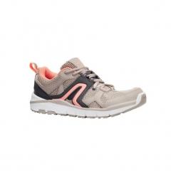 Buty do szybkiego marszu HW 500 damskie. Brązowe buty do fitnessu damskie NEWFEEL, z poliesteru. W wyprzedaży za 99,99 zł.