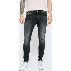 Calvin Klein Jeans - Jeansy. Czarne jeansy męskie skinny marki Calvin Klein Jeans, z bawełny. W wyprzedaży za 369,90 zł.
