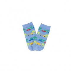 Skarpetki damska klasyczne we wzory, kolorowe. Niebieskie skarpetki damskie marki TXM, w kolorowe wzory. Za 2,99 zł.