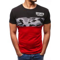 T-shirty męskie z nadrukiem: T-shirt męski z nadrukiem czarny (rx2734)