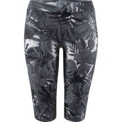 Legginsy kąpielowe bonprix czarno-szary z nadrukiem. Czarne legginsy we wzory bonprix. Za 44,99 zł.