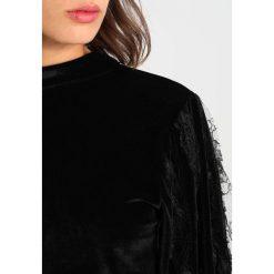 Bluzki asymetryczne: Navy London JOAN Bluzka z długim rękawem black