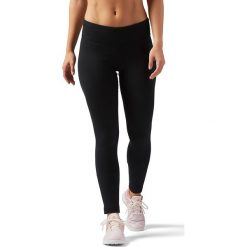 LEGGINSY REEBOK EL LEGGING. Białe legginsy sportowe damskie marki Adidas, z bawełny, z długim rękawem, długie. Za 89,99 zł.