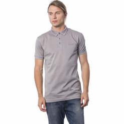 Koszulka polo w kolorze szarym. Szare koszulki polo marki Roberto Cavalli, Trussardi, l, z haftami. W wyprzedaży za 319,95 zł.