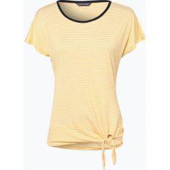 Bluzki, topy, tuniki: Tommy Hilfiger – T-shirt damski – Ema, żółty