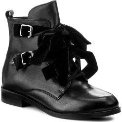 Botki BADURA - 8168-69 Czarny 124. Czarne buty zimowe damskie Badura, z materiału, na obcasie. W wyprzedaży za 339,00 zł.