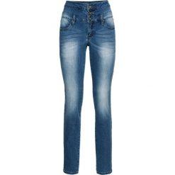 """Dżinsy SKINNY z wysoką talią bonprix niebieski """"stone"""". Niebieskie jeansy damskie skinny bonprix, z jeansu. Za 139,99 zł."""