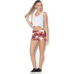 Spodnie damskie: Colour Pleasure Spodnie damskie CP-020 279 biało-czerwone r. M/L