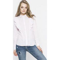 Noisy May - Koszula. Szare koszule damskie marki Noisy May, l, w paski, z bawełny, casualowe, z klasycznym kołnierzykiem, z długim rękawem. W wyprzedaży za 69,90 zł.