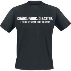 Chaos, Panic, Disaster T-Shirt czarny. Czarne t-shirty męskie Chaos, Panic, Disaster, xl, z napisami. Za 54,90 zł.
