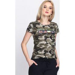 T-shirty damskie: Zielony-Moro T-shirt Warrior Woman