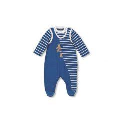 Sterntaler  Boys Śpioszki komplet jersey Erwin, kolor niebieski - Gr.Niemowlę (0 - 6 miesięcy). Niebieskie pajacyki niemowlęce Sterntaler, z bawełny, z długim rękawem. Za 119,00 zł.