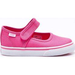 Vans - Baleriny dziecięce. Różowe baleriny dziewczęce marki Vans, z gumy. W wyprzedaży za 129,90 zł.