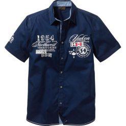 Koszula z krótkim rękawem bonprix ciemnoniebieski. Białe koszule męskie marki bonprix, z klasycznym kołnierzykiem, z długim rękawem. Za 54,99 zł.