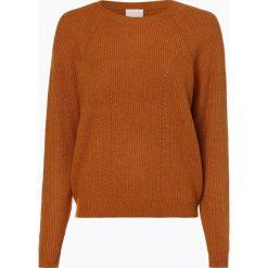 Vila - Sweter damski – Viril, beżowy. Brązowe swetry klasyczne damskie Vila, m, z dzianiny. Za 159,95 zł.