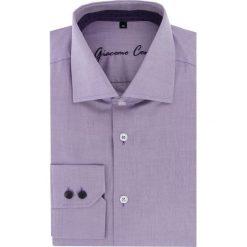 Koszula UGO slim 16-01-04-K. Fioletowe koszule męskie na spinki marki Reserved, l, z bawełny. Za 229,00 zł.